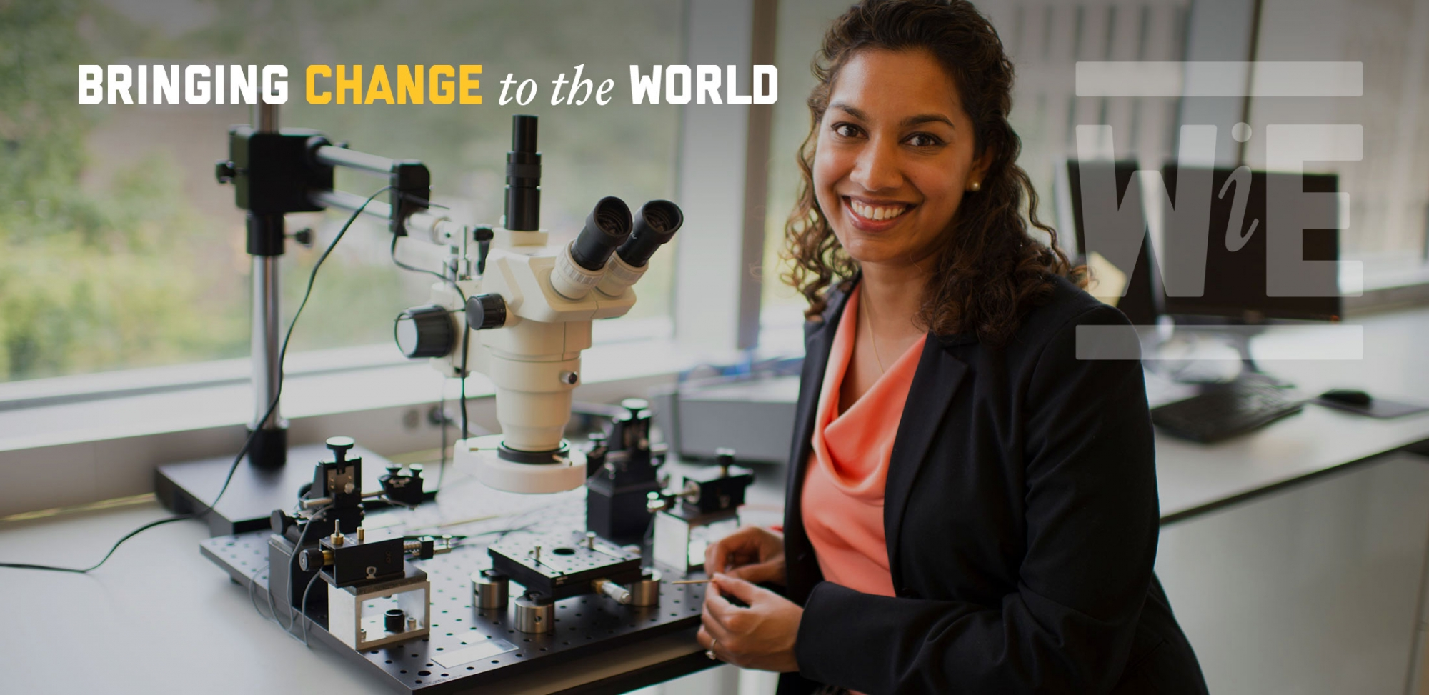 GW SEAS Women in Engineering, Bringing change to the world. Dr. Saniya LeBlanc works to develop technologies that address the growing demand for energy.